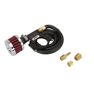New Longacre 1 1 2 Clamp on Billet Rear End Breather Vent Kit w Hose