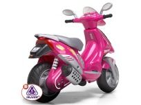 New Battery Operated Pink Electric Powered Ride on motorbike Vespa