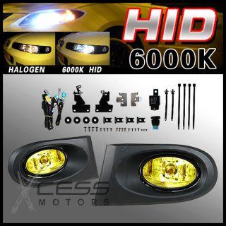 6000K HID 02 03 04 Acura RSX DC5 Yellow Lens Driving Fog Lights Kit RH