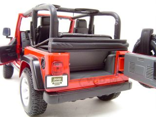 Jeep Wrangler Rubicon Red 1 18 Scale Diecast Model