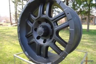 Ford F150 250 7 Lug Bolt Wheels 7 on 150 mm ion 179 Matte Black