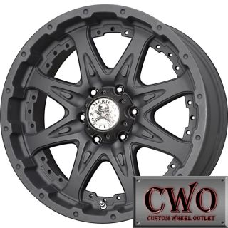 16 Black AO Buckshot Wheels Rims 8x165 1 8 Lug Chevy GMC Dodge RAM
