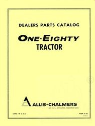 Allis Chalmers 180 One Eighty Parts Catalog Manual AC