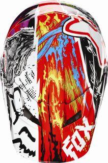 Fox Racing V1 Pestilence Youth Helmet Black Motocross All Sizes 04527