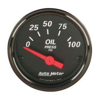 New Auto Meter Designer Black Electric Oil Pressure Gauge w Sender 2 1