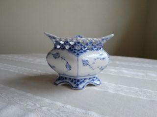 Royal Copenhagen Blue Fluted Full Lace China Sugar Bowl 1113 Bonus