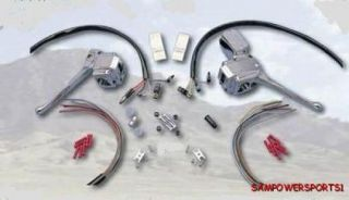 Chrome Handlebar Controls Black Switches for All Harley 73 81