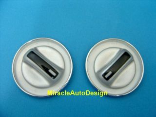 AC Switch Covers White Faces Chrome Rims for Mercedes Benz W210 E