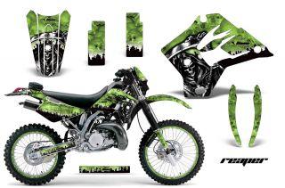 MOTORCYCLE NUMBER PLATES GRAPHICS KAWASAKI KDX 200 220 95 08 REAPER G
