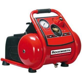 Rockworth 1 5 HP 3 Gallon Oil Free Trim Plus Air Compressor RW1503TP