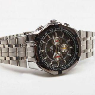 Brand New Fashion Analog Mens Boys Quartz Steel Band Wrist Watch B156