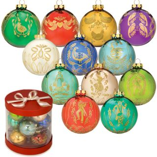 Used Waterford 12 Days of Christmas Holiday Ball Tree Ornament Gift