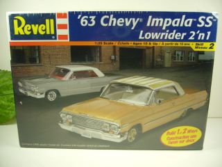 REVELL 125 SCALE 1963 CHEVY IMPALA SS LOWRIDER 2N1 MODEL KIT  SKILL