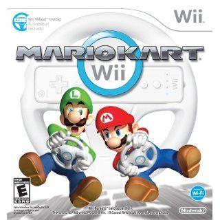 Wii White Console bundle Many Extras MarioKart, MarioParty, 2 wheels