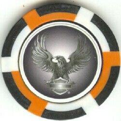 Color Harley Eagles Flawed Poker Chip Sample Set