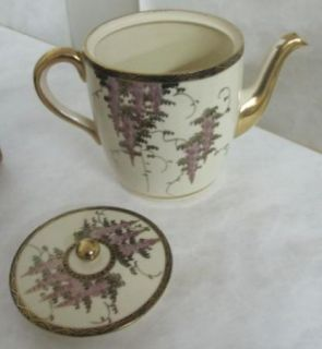 Gorgeous C 1900 21 Piece Japanese Tea Set with Flowers and Birds