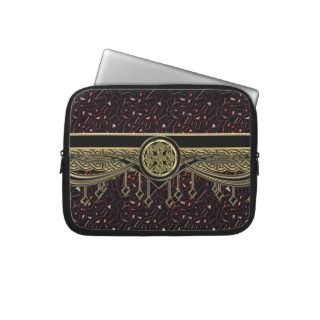Gold Celtic Symbol on Metallic Jewels Sleeve Laptop Computer Sleeve