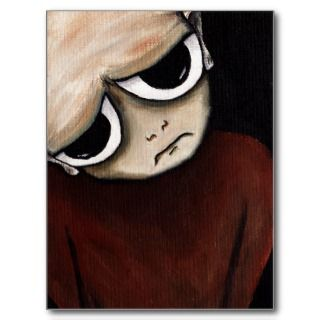 Big eye fantasy cyclops art postcard