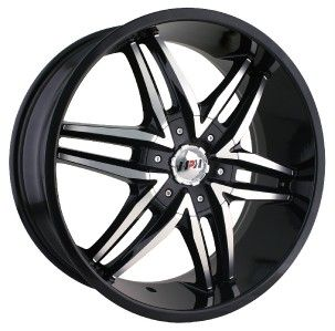 24 inch MPW MP208 Black Wheels Rims 5x5 5 Dodge RAM 1500 Ford Bronco