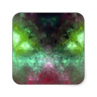 Green eyed Monster Square Sticker