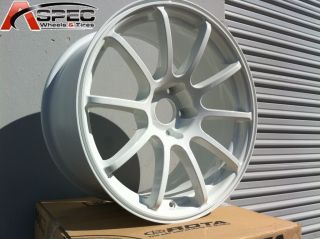 18x9 Rota G Force 5x114 3 30 White Wheel Fits Eclipse STI RSX G37 370Z