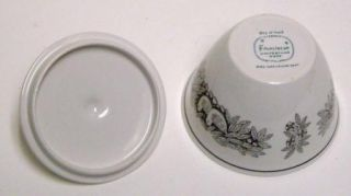 Franciscan Whitestone Bird N Hand Sugar Bowl w Lid Vintage