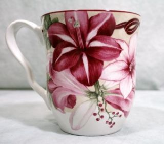 222 Fifth Yuletide Celebration Amaryllis Coffee Mug Cup