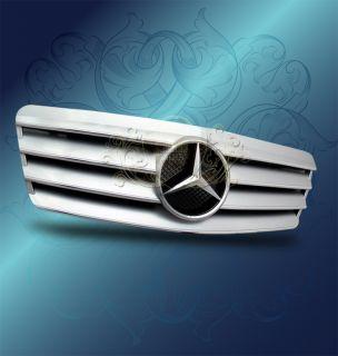 98 02 Mercedes W208 CLK320 CLK430 Silver Chrome AMG SL Style Front