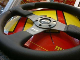 Genuine Momo Steering Wheel Race Italy Sports Leather
