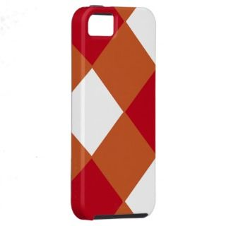 Maroon and Burnt Orange Checked iPhone 5 Covers