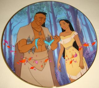 Disney Necklace 4 Pocahontas Fathers Love Plate BX COA