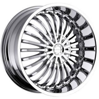 22x9.5 Chrome Strada Spina Wheels 5x4.75 5x5 +18 JEEP WRANGLER RUBICON