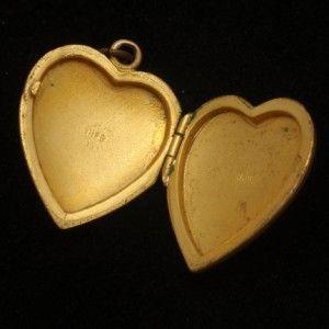 Heart Shaped Locket Vintage Super Nice Flower Design