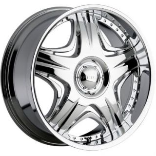 26 inch Akuza Sting Wheels Rims Chrome 26x10 5x135