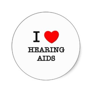 Love Hearing Aids Sticker