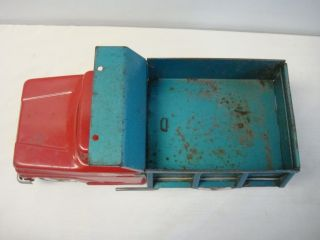 Vintage Tonka Pressed Steel Red Green Dump Truck Nice