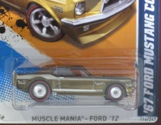 Hot Wheels 2012 Super Secret Treasure Hunt 67 Ford Mustang Coupe