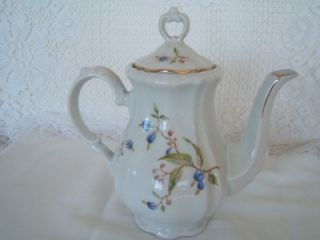 Bareuther~ Demi Tasse or Tea Pot Set w Creamer, Sugar, 6 Cups Saucers