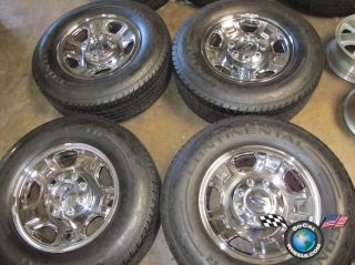 Ford F250 F350 SD Factory 18 Chrome Steel Wheels Tires OEM Rims 3602