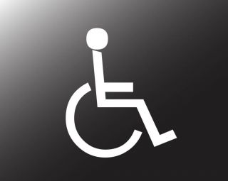Handicap Decal Window Sticker Many Sizes and Colors