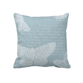 French Blue Butterflies Pillows