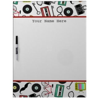 Hipster Themed Personalized Dry Erase Board