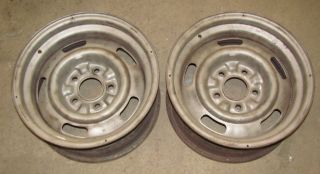 68 Corvette AG 15x7 Rally Wheels Rims Pair 1968