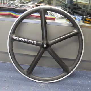 Aerospoke Fixie Road Track Bike 700c Front Wheel RAW color w/ hub