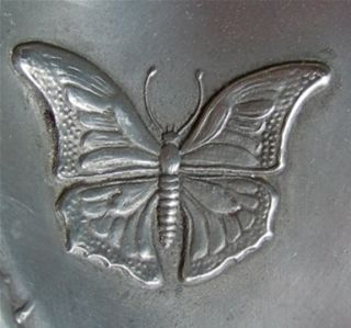 Beautiful Antique French Art Nouveau Pewter Dish Gorgeous Bows
