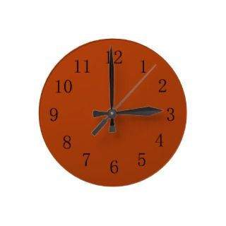 Red Cutlery Kitchen Wall Clock