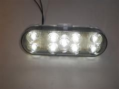 Two Maxxima 6 inch Oval LED Clear White Back Up Light Truck RV M63347