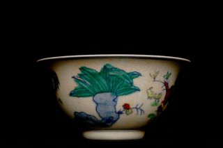Gorgeous Chiense Porcelain Antique Dou Cai Chicken Bowl Signed QM27
