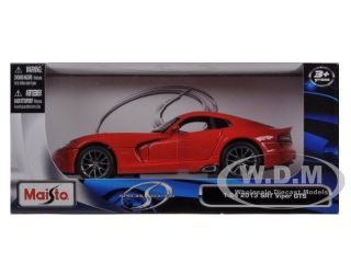 2013 Dodge Viper SRT GTS Red 1 24 Diecast Car Model by Maisto 31271