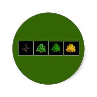 Four Seasons Winter, Spring, Summer & Fall Round Sticker